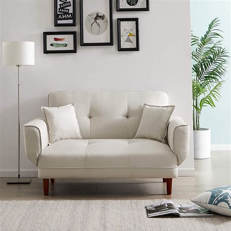 convertible futon sofa bed with 2 pillows size