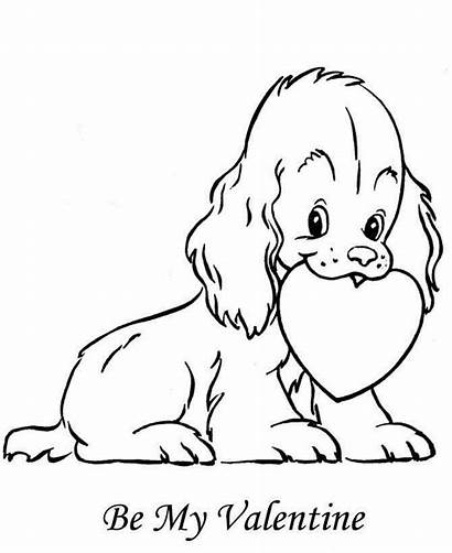 Coloring Pages Valentines Puppy
