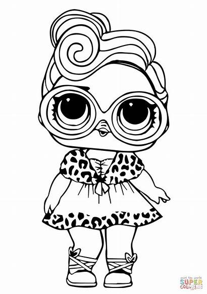 Lol Coloring Pages Doll Printable Dollface Dolls