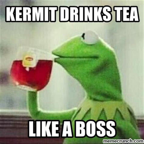 Kermit Tea Memes - kermit drinking tea quotes quotesgram