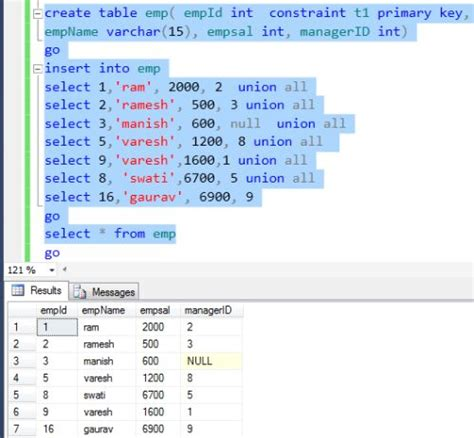 sql query to create table avoid self join in index view in sql server 2012