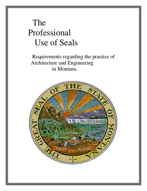 Montana Architectural And Engineering Seals