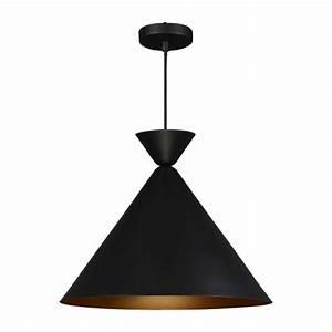 Stehlampe Schwarz Innen Gold : gaia h ngeleuchte 48cm aus metall schwarz und innen gold lackiert habitat ~ Bigdaddyawards.com Haus und Dekorationen