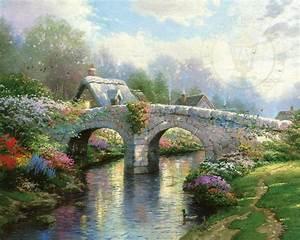 Blossom Bridge – Limited Edition Art The Thomas Kinkade