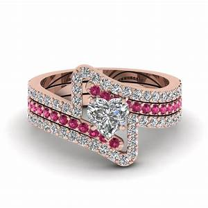 Shop our 18k rose gold trio wedding ring sets fascinating for Sapphire engagement ring and wedding band set