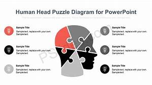 Human Head Puzzle Diagram For Powerpoint