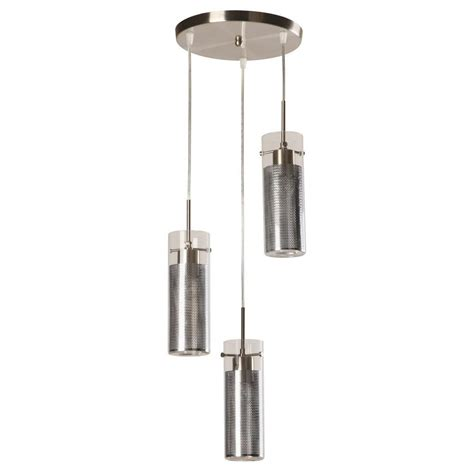 home decorators collection lighting home decorators collection 3 light modern brushed nickel