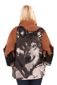 Animal Design Fleece Zip Ladies Jacket Women's