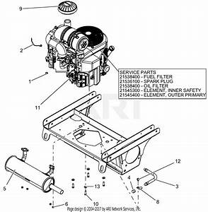 Gravely 992230  030000 -   Pro-turn 452 Parts Diagram For Engine