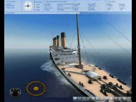 Titanic Sinking Ship Simulator Extremes by The Anchor Trick In Ship Simulator 2008 Titanic Sinking