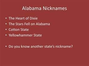 Alabama Cotton State Nicknames