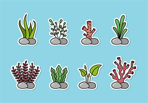 Each of the svg/dxf letter files has six layers. Seaweed Free Vector Art - (4513 Free Downloads)