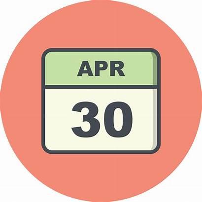 April 30th Calendar Date Clipart Single Vector