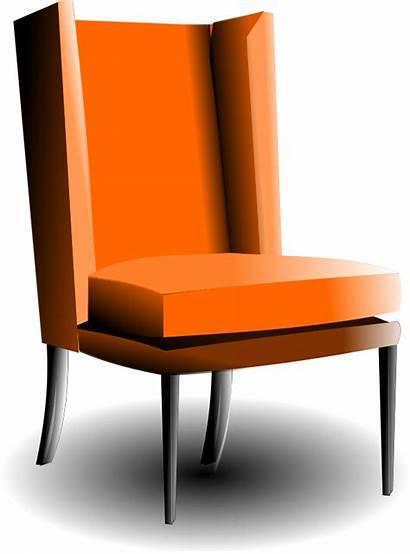 Chair Clip Clipart Armchair Fashioned Furniture Chairs