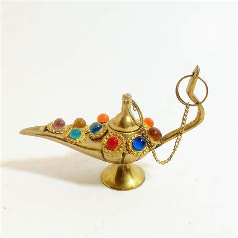 aladdin l brass incense burner beaded on top scented oil