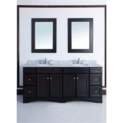 decker 72 inch traditional double sink bathroom vanity
