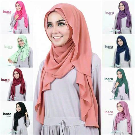 model jilbab terbaru  jilbab pashmina inara instan