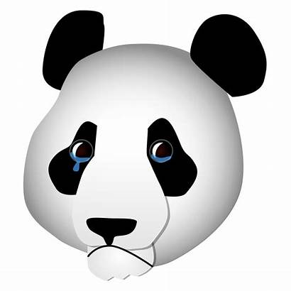Panda Sad Svg Clipart Commons Wikimedia Neutral