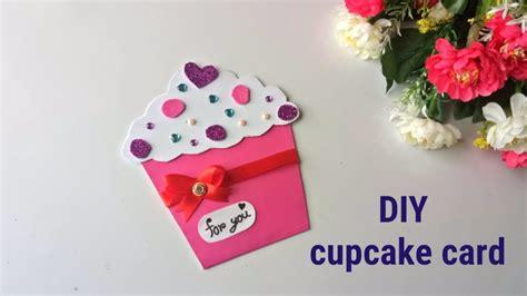 Diy Cupcake Card. Cupcake Birthday Card For Kids.simple