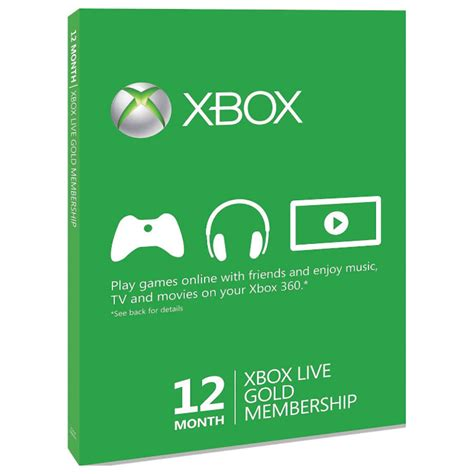 Xbox Live And Xbox Live Gold Microsoft Xbox 360 Live Gold 12 Month Membership Card Ebay