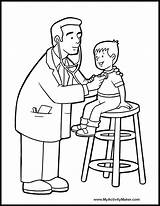Coloring Pages Doctors Printable Doctor sketch template