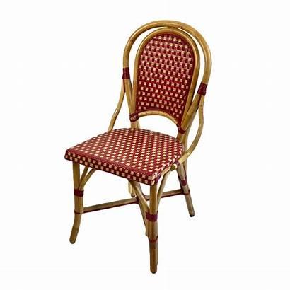 Burgundy Cream Rattan Chair Parisian Sq Country