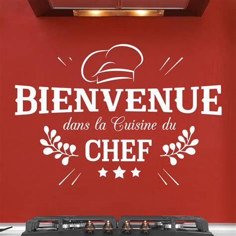 sticker mural cuisine sticker bienvenue cuisine du chef stickers cuisine