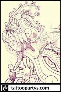 quetzalcoatl tattoo sleeve by dacreativegenius on DeviantArt