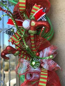 Outdoor, Christmas, Garland, With, Lights, Red, And, Green, Christmas, Door, Decor, Christmas, Front, Door
