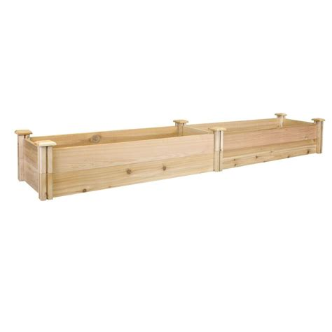greenes fence raised garden bed greenes fence 16 in x 96 in x 11 in premium cedar