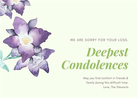 customize  sympathy card templates  canva
