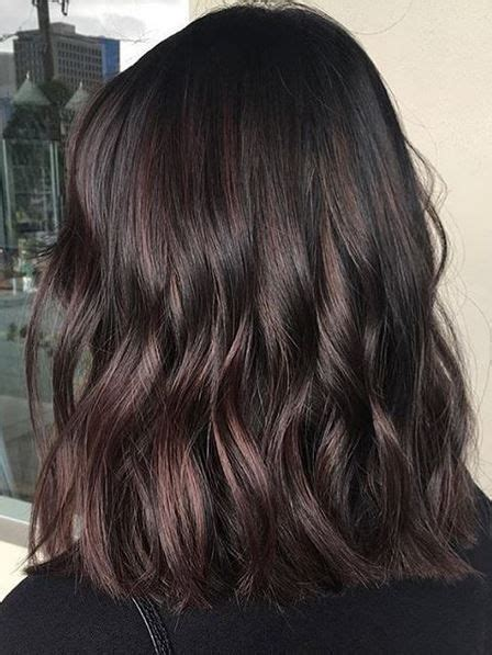 trendy hair color ideas   blackberry truffle