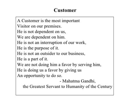Definition Of Customer Service Exle by Customer Definition Gandhi
