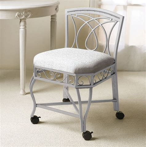 Vanity Chair With Back And Wheels by Vanity Chair With Wheels