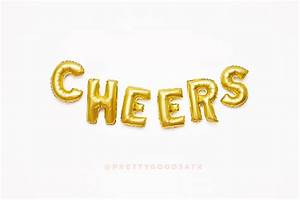 cheers gold letter balloon banner kit pretty goods atx With gold letter banner kit