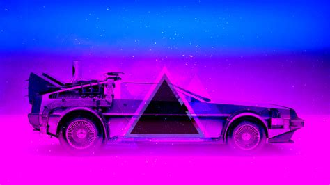 80s Neon Car Wallpaper by 76 Neon 80s Wallpapers On Wallpaperplay