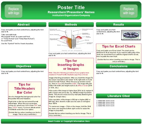 poster  template  powerpoint scientific