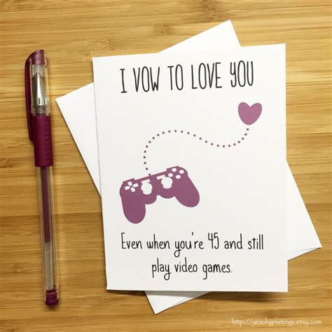cute love card  video game lovers happy anniversary