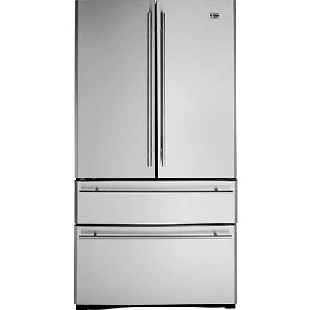 ge monogram zfgbhyss stainless steel french door  drawer  standing refrigerator zfgbhys
