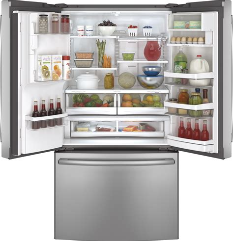 pyepshss ge profile series  cu ft counter depth french door refrigerator stainless steel