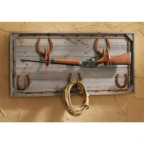 Horseshoe Rack by Horseshoe Gun Rack 95335 Decorative Accessories At