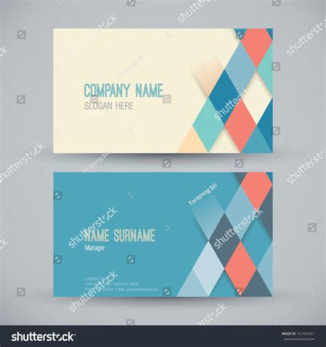 card design template business card stock vector