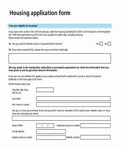 Sample housing application form 10 free documents in pdf for Housing application template