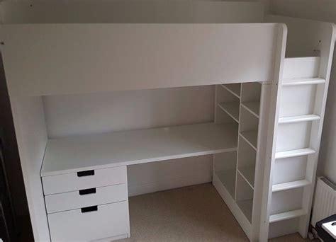 desk under bed ikea ikea stuva loft bed frame with desk drawers and under bed