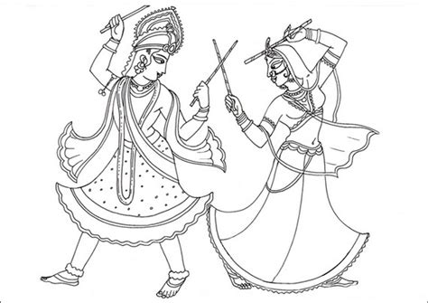 navratri coloring sheets coloring pages