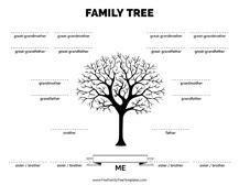 generation family tree template  family tree
