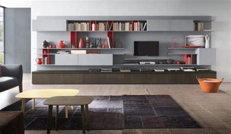 idee  pareti attrezzate  arredare  soggiorno