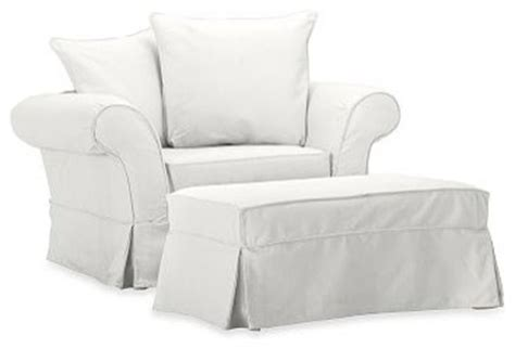 chair and a half slipcover charleston chair and a half slipcover denim warm white