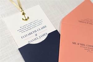sliding wedding invitation with anchor charm embellishment With cost of 150 wedding invitations