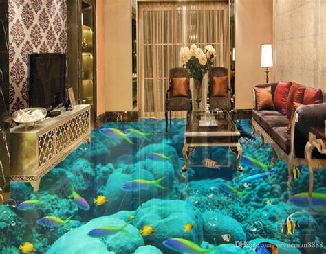 3d Flooring Custom Wallpaper Scenery For Walls Ocean World
